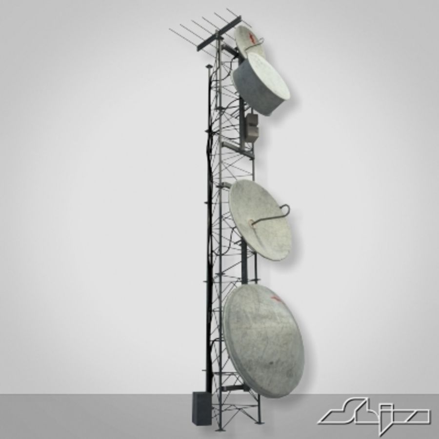 Wieża antenowa 2 royalty-free 3d model - Preview no. 1