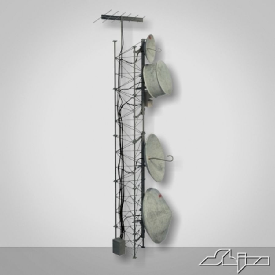 Wieża antenowa 2 royalty-free 3d model - Preview no. 2