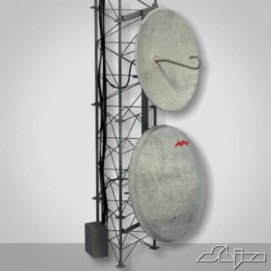 Antenna Tower 2 royalty-free 3d model - Preview no. 6