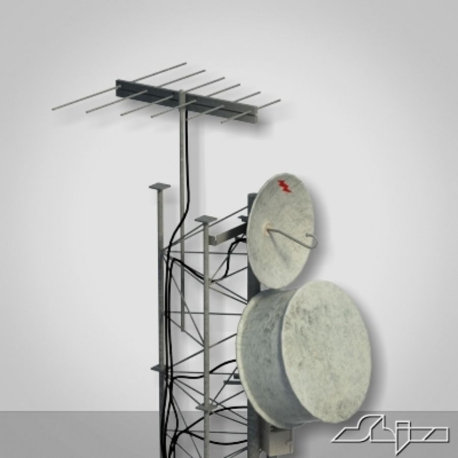 Wieża antenowa 2 royalty-free 3d model - Preview no. 5