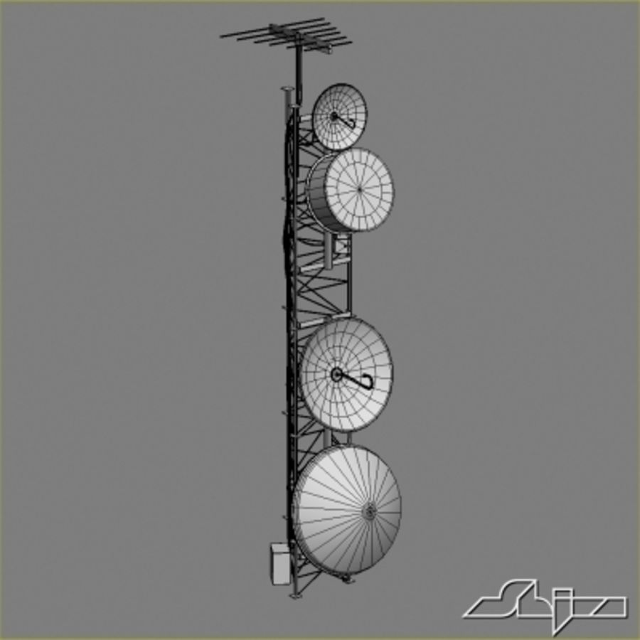 Antenna Tower 2 royalty-free 3d model - Preview no. 7