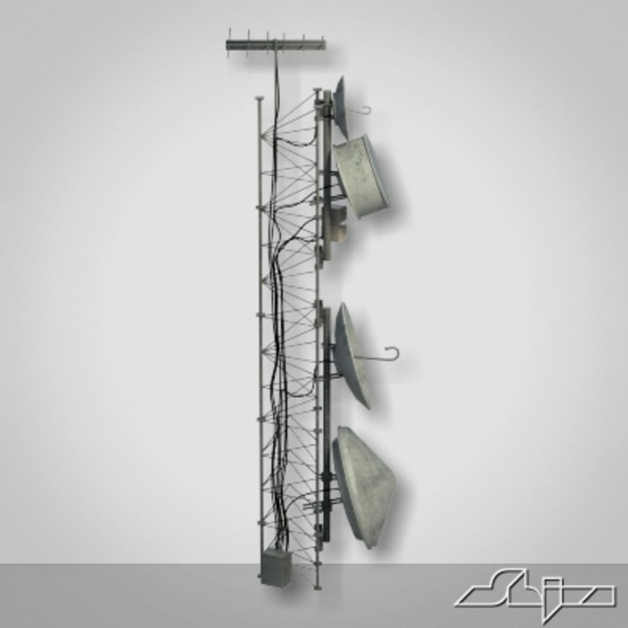 Wieża antenowa 2 royalty-free 3d model - Preview no. 4