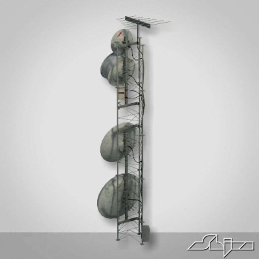 Wieża antenowa 2 royalty-free 3d model - Preview no. 3