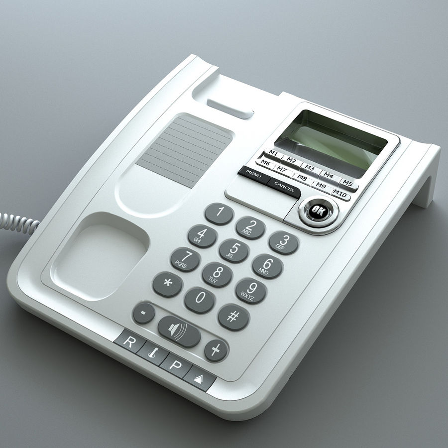 Telefono 2 royalty-free 3d model - Preview no. 4