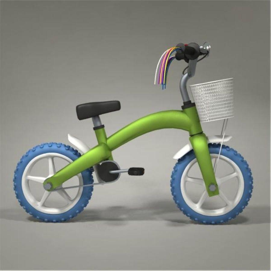 Child bike royalty-free 3d model - Preview no. 5