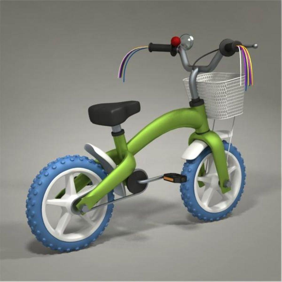 Child bike royalty-free 3d model - Preview no. 6