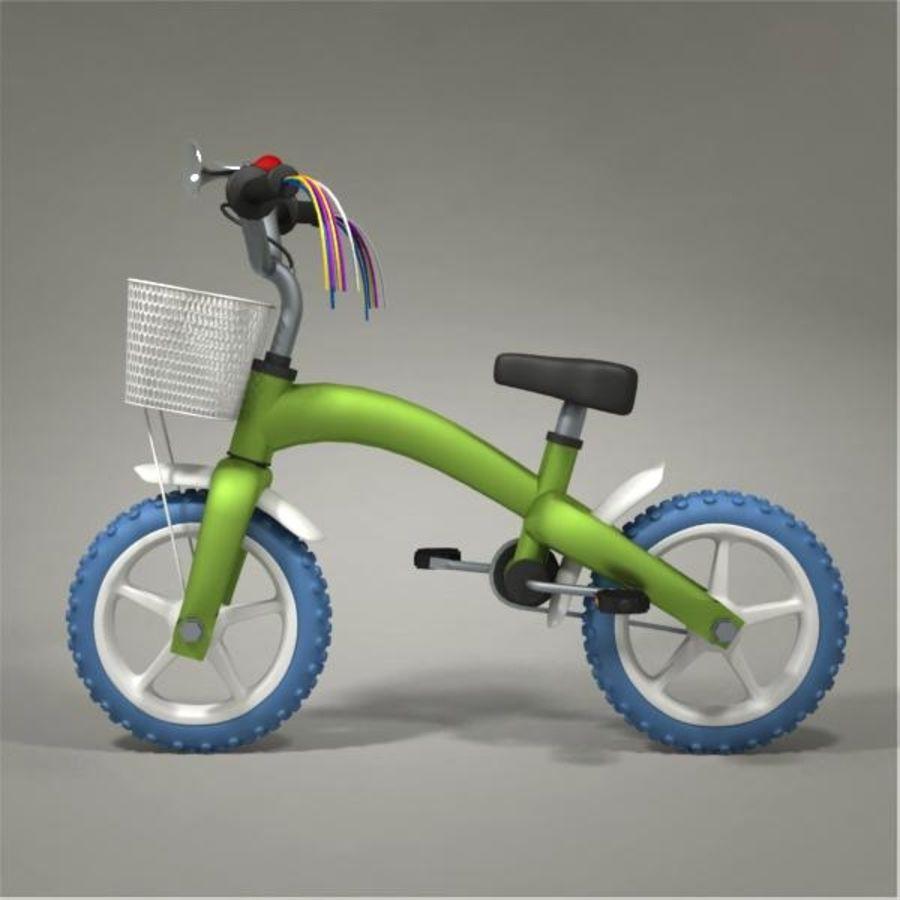 Child bike royalty-free 3d model - Preview no. 2