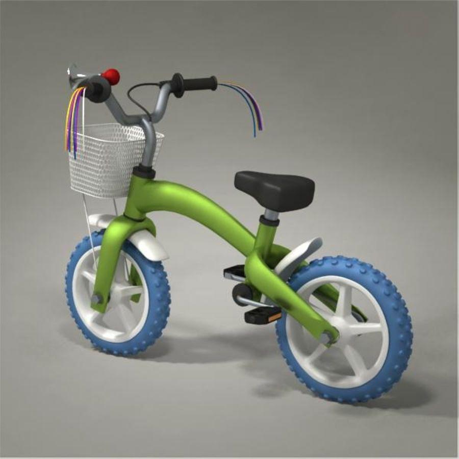 Child bike royalty-free 3d model - Preview no. 3