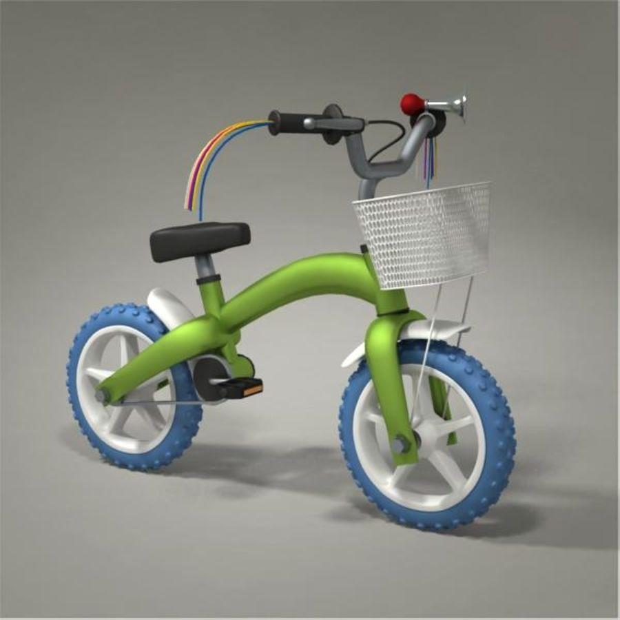 Child bike royalty-free 3d model - Preview no. 4