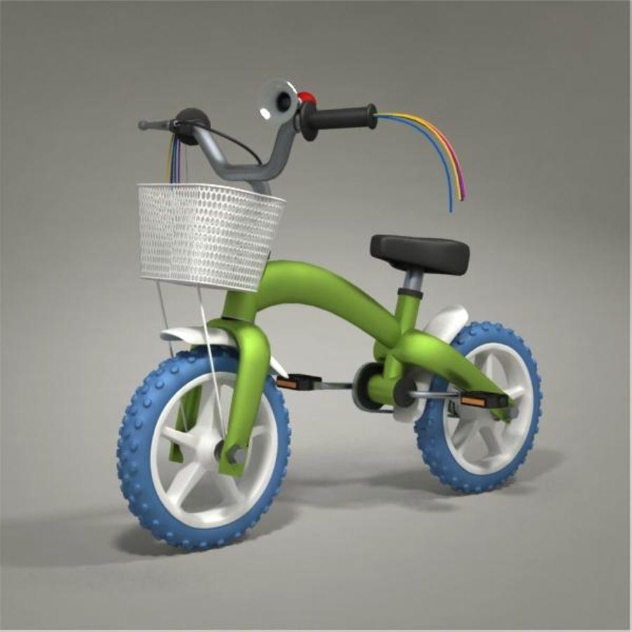 Child bike royalty-free 3d model - Preview no. 1