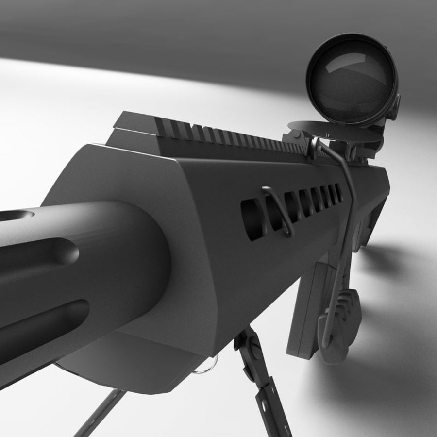Sniper Rifle royalty-free 3d model - Preview no. 6