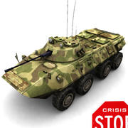 BTR 90 VEHICULE BLINDE SOVIETIQUE RUSSE 3d model