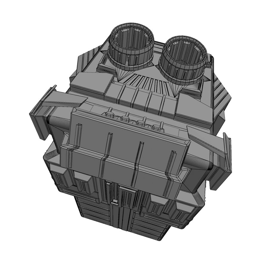 Space Shuttle Craft royalty-free 3d model - Preview no. 10