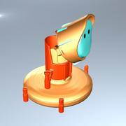dessin animé de robot 3d model