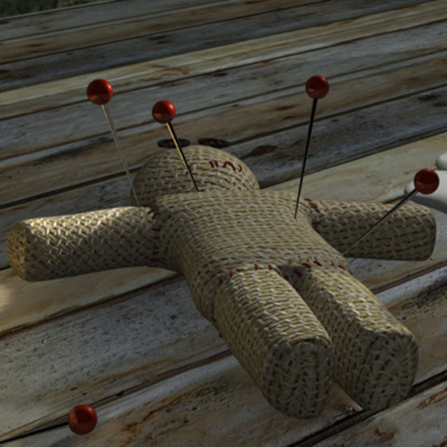 voodoo doll ritual royalty-free 3d model - Preview no. 5