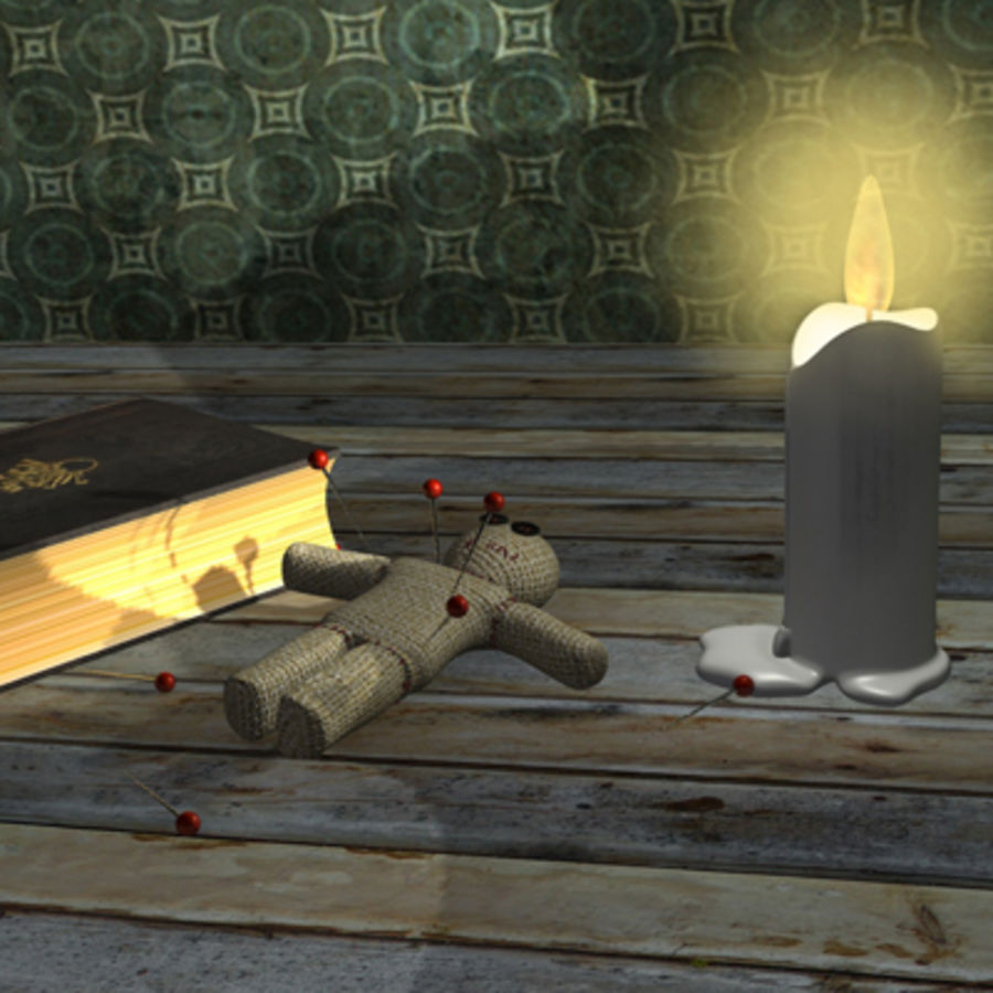 voodoo doll ritual royalty-free 3d model - Preview no. 1