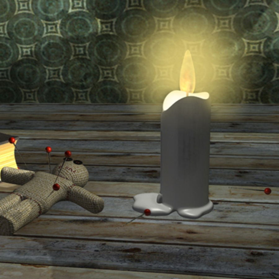 voodoo doll ritual royalty-free 3d model - Preview no. 4