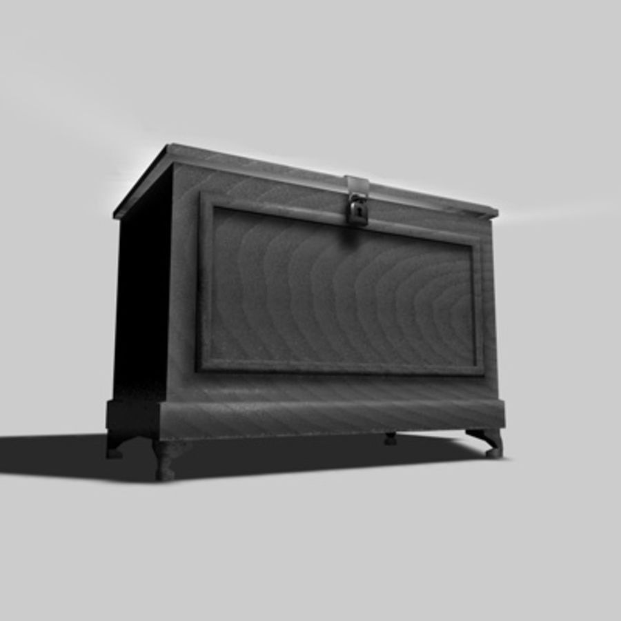 Bedroom Chest royalty-free 3d model - Preview no. 3