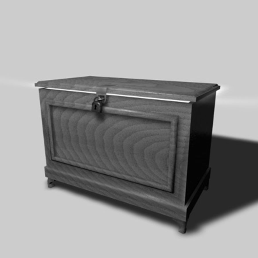 Bedroom Chest royalty-free 3d model - Preview no. 1