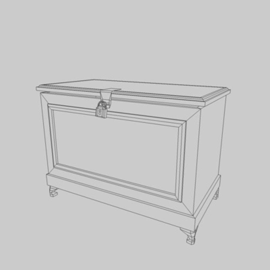 Bedroom Chest royalty-free 3d model - Preview no. 2