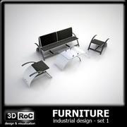 Ensemble de meubles design 1 3d model