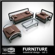 Designmöbler set 3 3d model