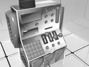 实验室控制台 3d model
