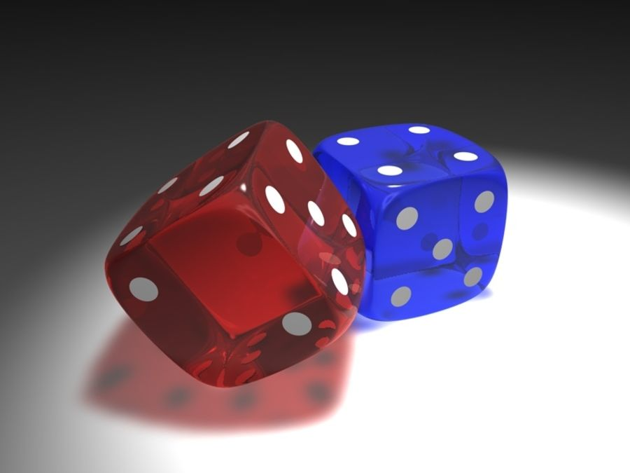 Gaming Cubes / Dice royalty-free 3d model - Preview no. 1