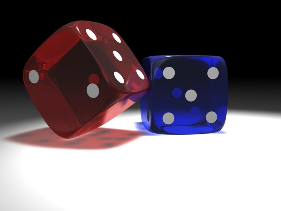 Gaming Cubes / Dice royalty-free 3d model - Preview no. 2