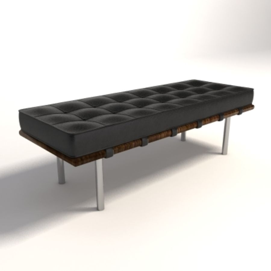 Mies Van Der Rohe Barcelona Bench Small Royalty Free 3d Model   Preview No.