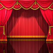 Theater Curtains 3d model