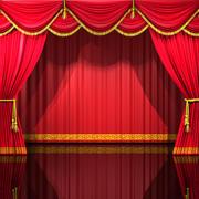 Tende del teatro 3d model