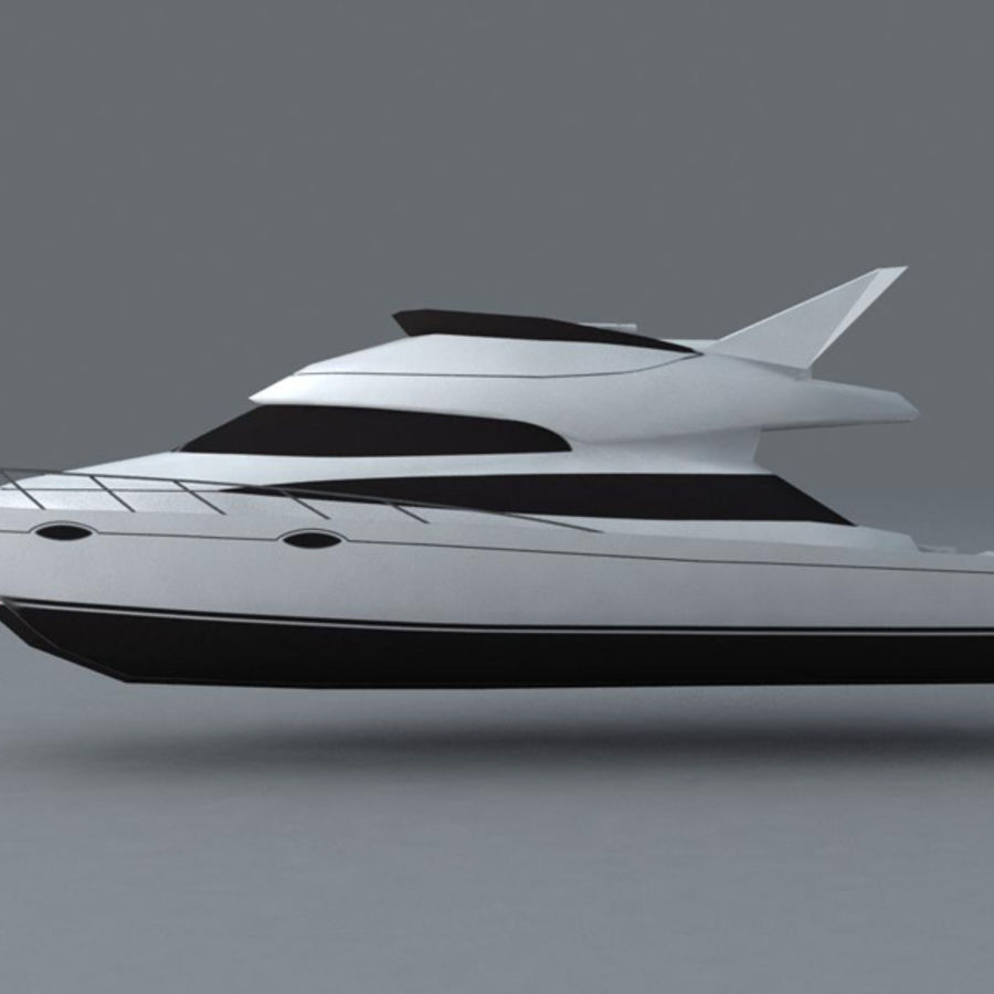 Yacht royalty-free 3d model - Preview no. 5