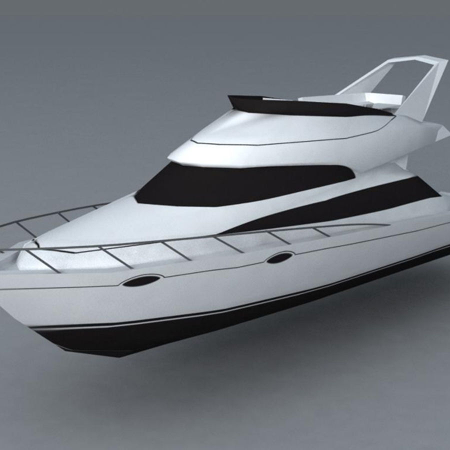 Yacht royalty-free 3d model - Preview no. 1