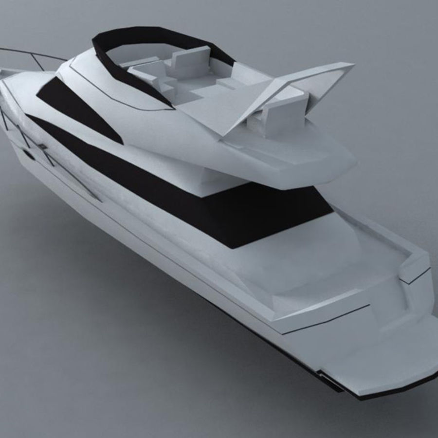 Yacht royalty-free 3d model - Preview no. 3