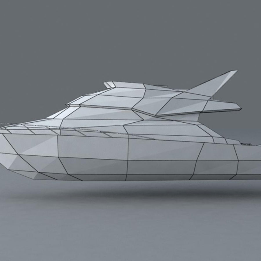 Yacht royalty-free 3d model - Preview no. 6
