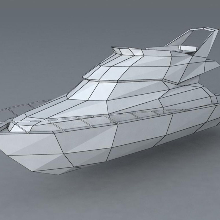 Yacht royalty-free 3d model - Preview no. 7