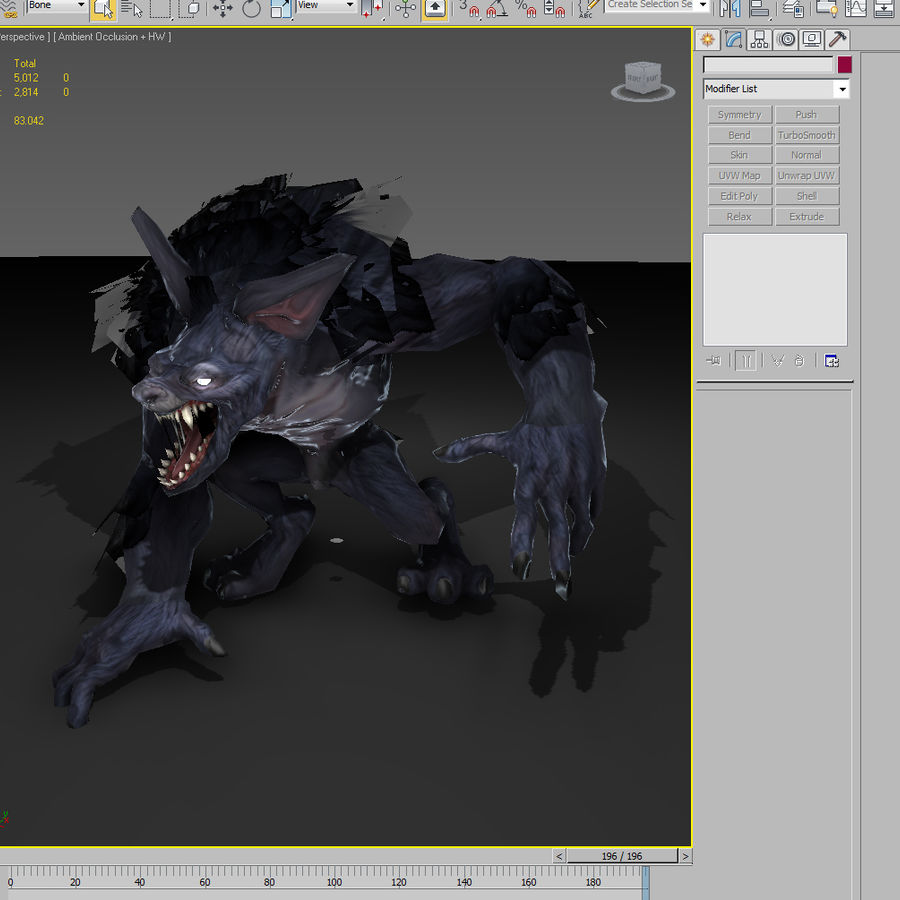 Werewolf -Game Character royalty-free 3d model - Preview no. 5