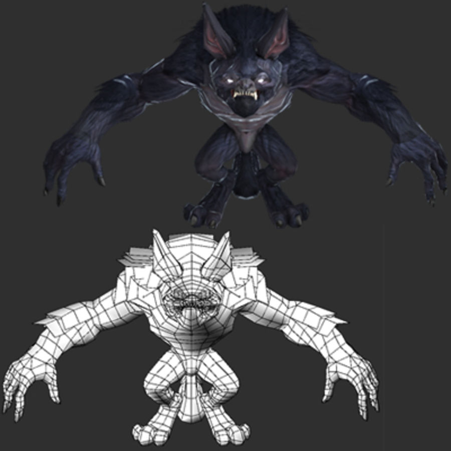 Werewolf -Game Character royalty-free 3d model - Preview no. 2
