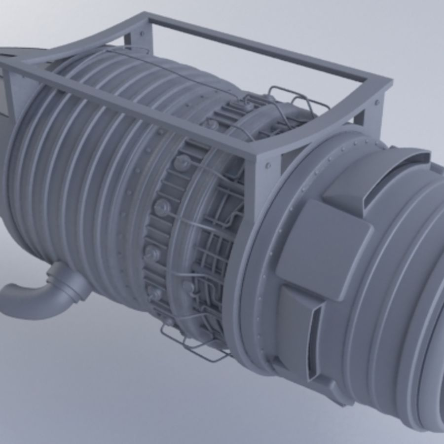 Motor a jato MKVb royalty-free 3d model - Preview no. 2