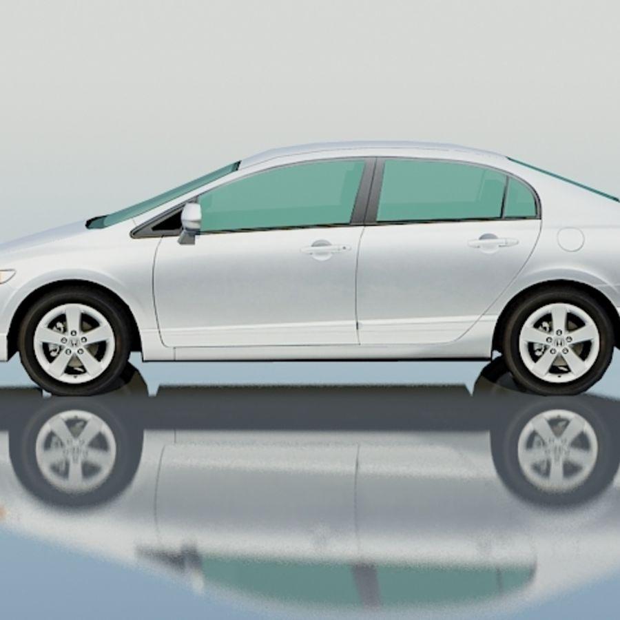Honda Civic Limousine 2009 royalty-free 3d model - Preview no. 3