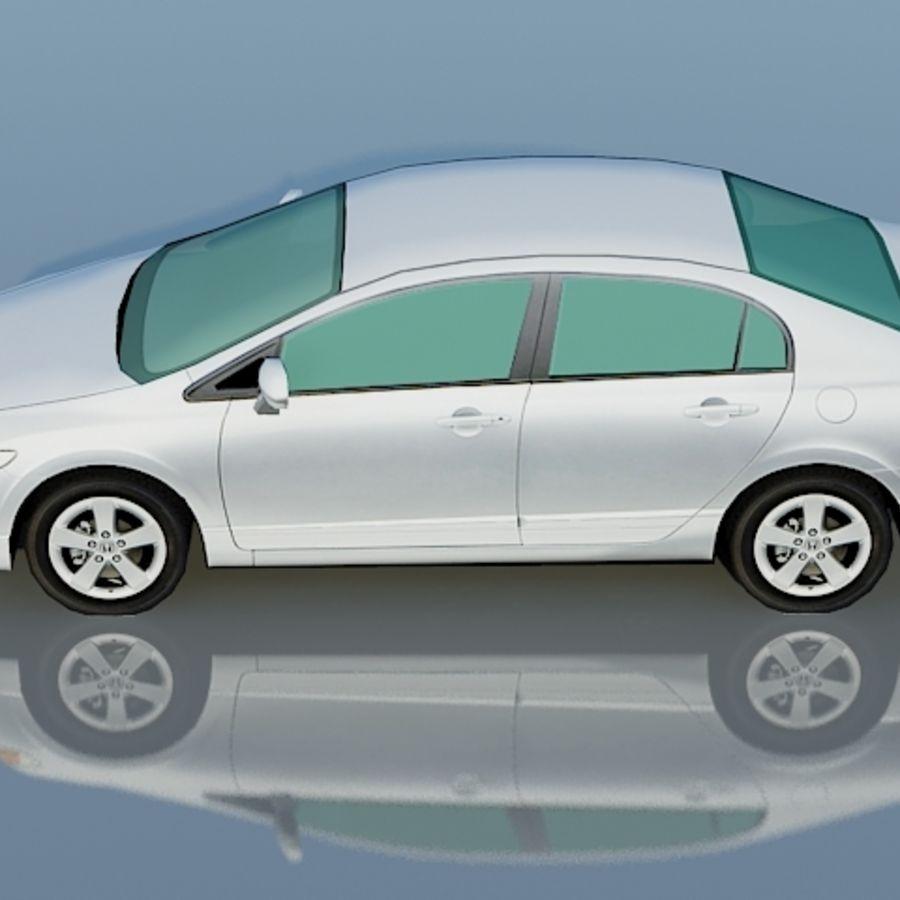 Honda Civic Limousine 2009 royalty-free 3d model - Preview no. 4
