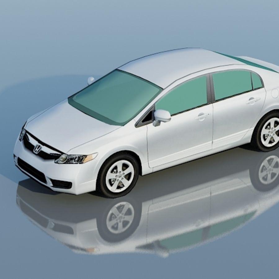 Honda Civic Limousine 2009 royalty-free 3d model - Preview no. 5