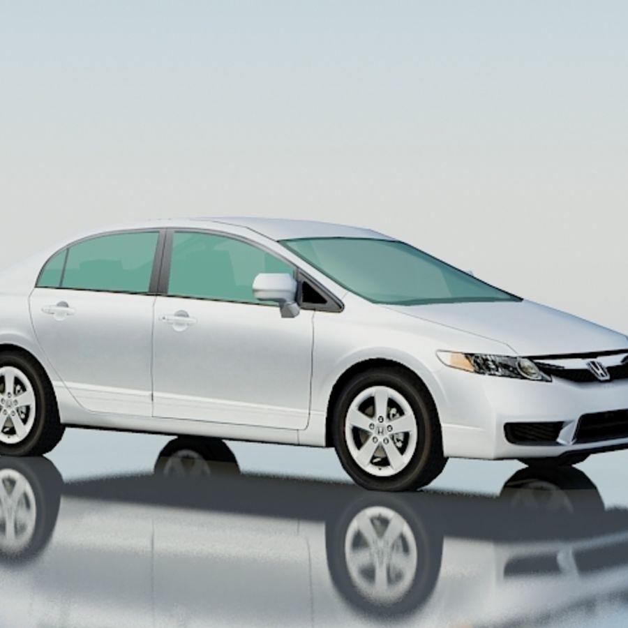 Honda Civic Limousine 2009 royalty-free 3d model - Preview no. 1