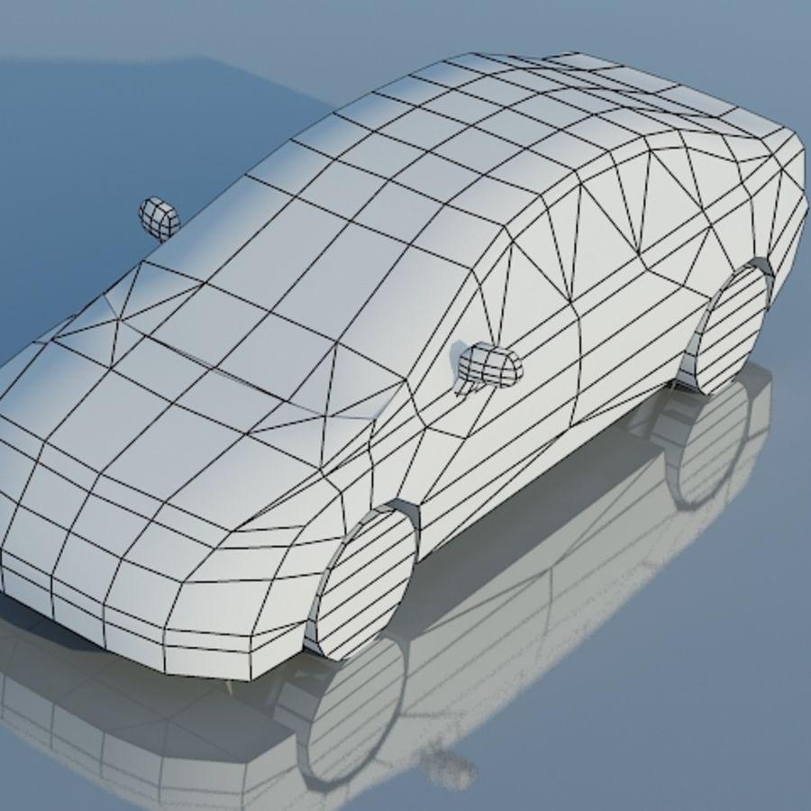 Honda Civic Limousine 2009 royalty-free 3d model - Preview no. 9