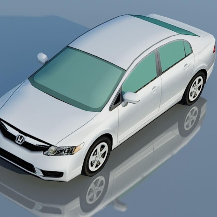 Honda Civic Limousine 2009 royalty-free 3d model - Preview no. 7