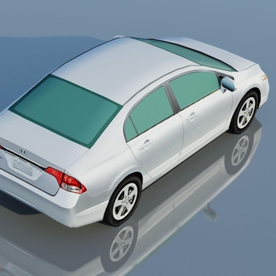 Honda Civic Limousine 2009 royalty-free 3d model - Preview no. 8