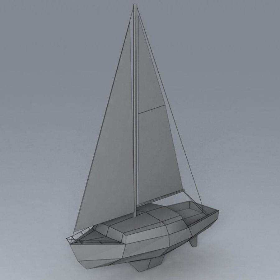 Zeilboot royalty-free 3d model - Preview no. 6