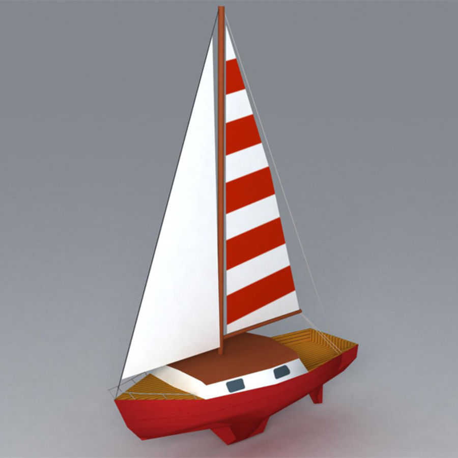 Zeilboot royalty-free 3d model - Preview no. 2