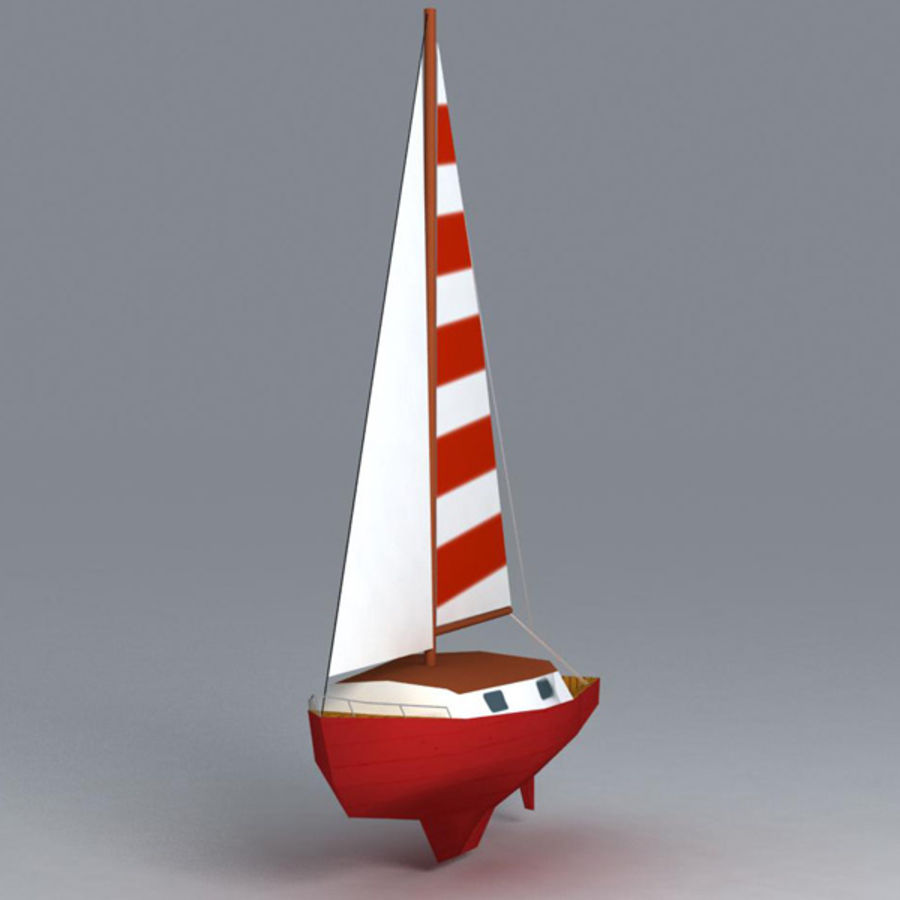 Zeilboot royalty-free 3d model - Preview no. 5